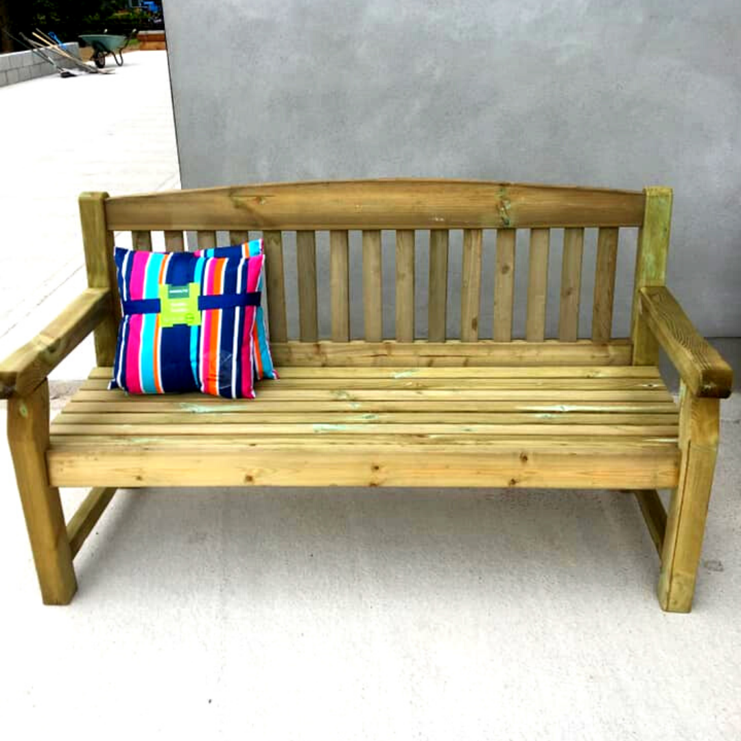 3 Seater Premium Garden Bench 5 Ft 5 Hennessy Outdoors