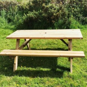 Wooden Picnic Table 1.4m