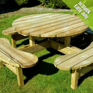 Dunmore Round Picnic Table