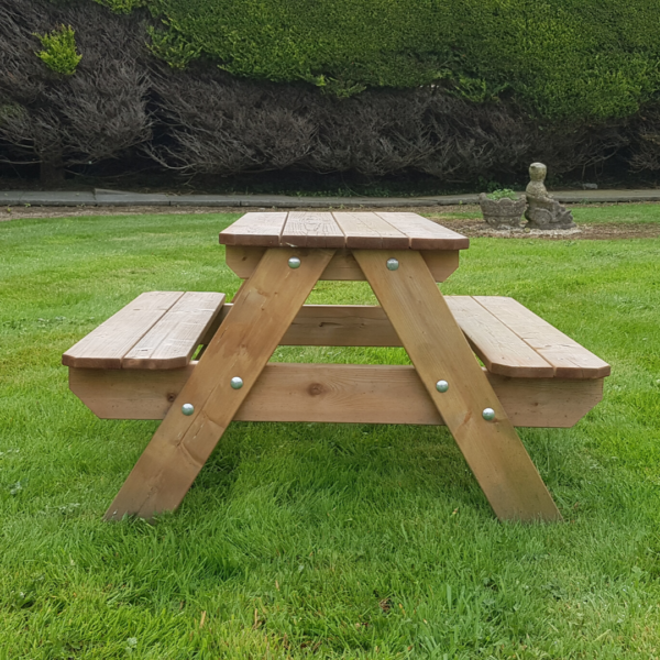 Lisbet Kids Wooden Picnic Table Side View