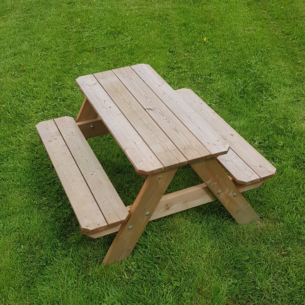 Lisbet Kids Wooden Picnic Table Top View