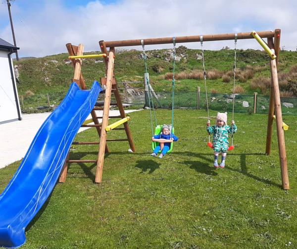 Bosse Wooden Play Unit Swing Slide