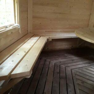 BBQ Grill Hut Interior