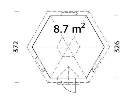 BBQ Hut Floor Plan