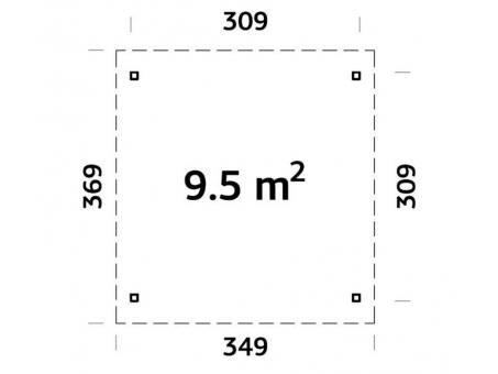 Pergola 9.5m2 Plan