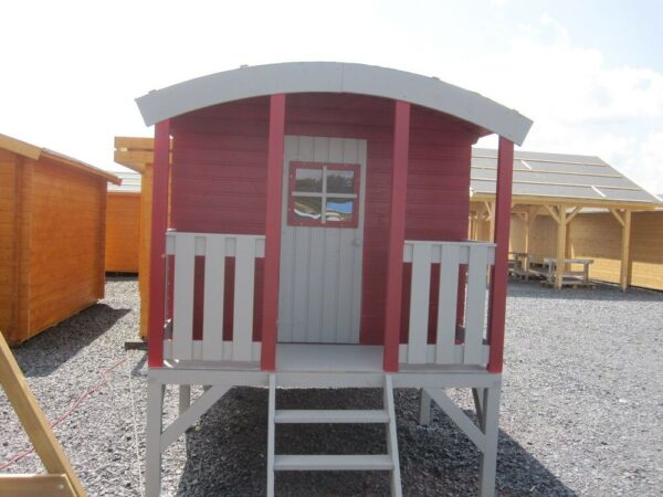 Huck Kids Wooden Playhouse Painted Red