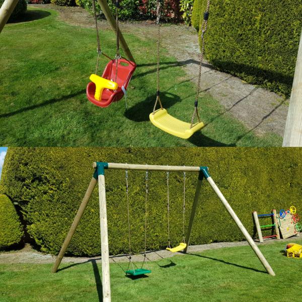 Urban Jungle Double Swing Set
