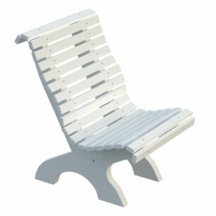Amber Curved Garden Chair Front White