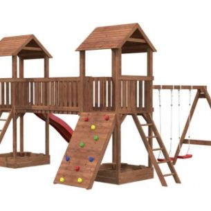 Safari Double Tower Swing Slide Climb