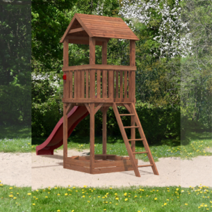 Safari Tower with Slide Garden