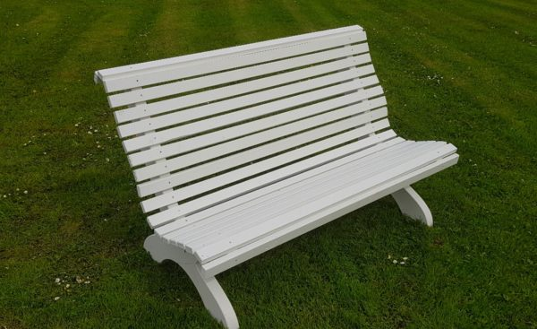 Amber Curved Garden Bench Front