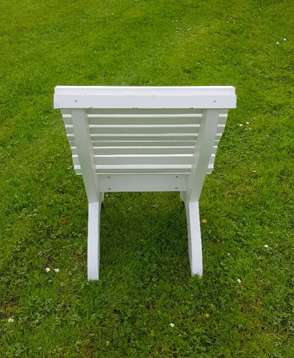 Amber Curved Garden Chair Behind
