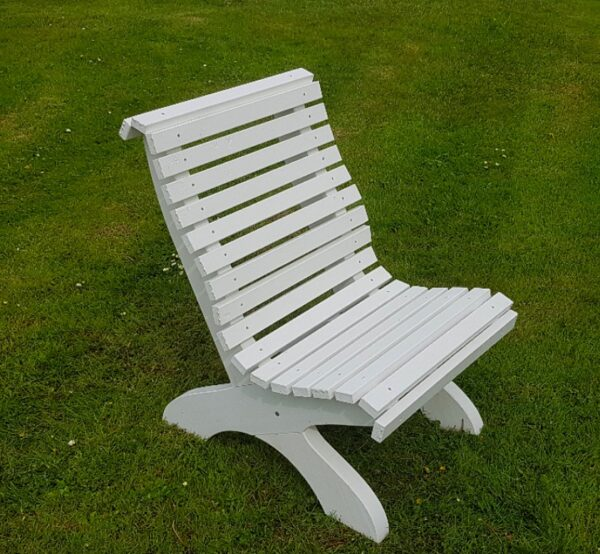 Amber Curved Garden Chair Front