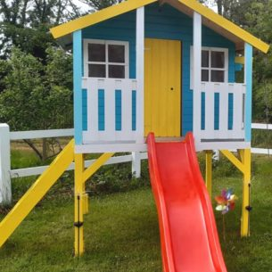 Toby Kids Playhouse Slide Climbing Wall