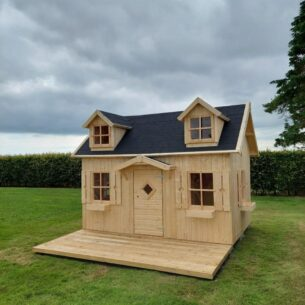 Manor Kids Wooden Playhouse with Patio