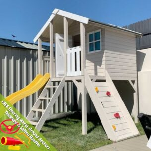 Toby Playhouse with Slide and Climbing Wall