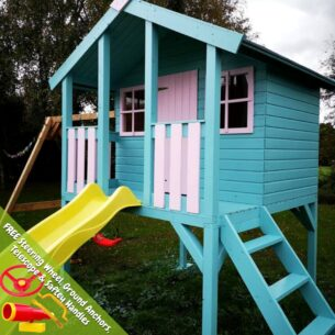 Toby Playhouse with Double Swing and Slide
